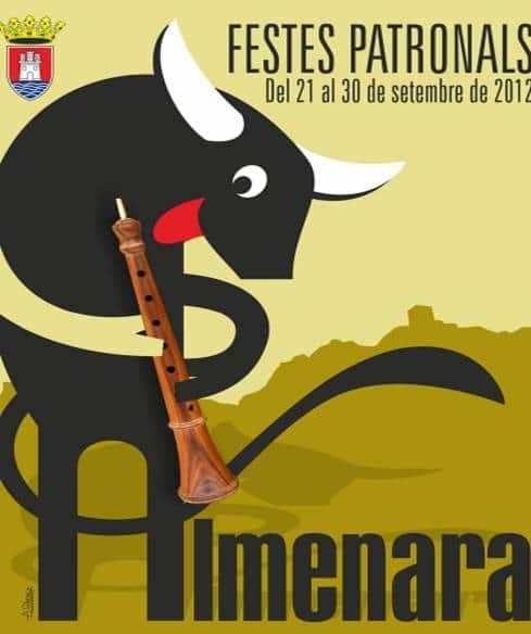 Cartel de las fiestas patronales de Almenara