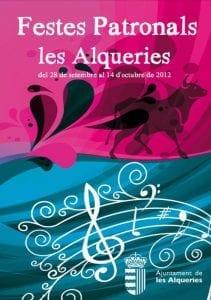 Cartel de las fiestas de Alquerias del niño perdido 2012.