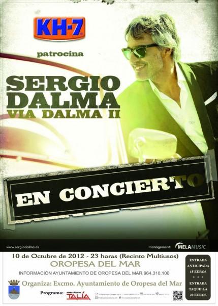 Cartel del concierto de Sergio Dalma