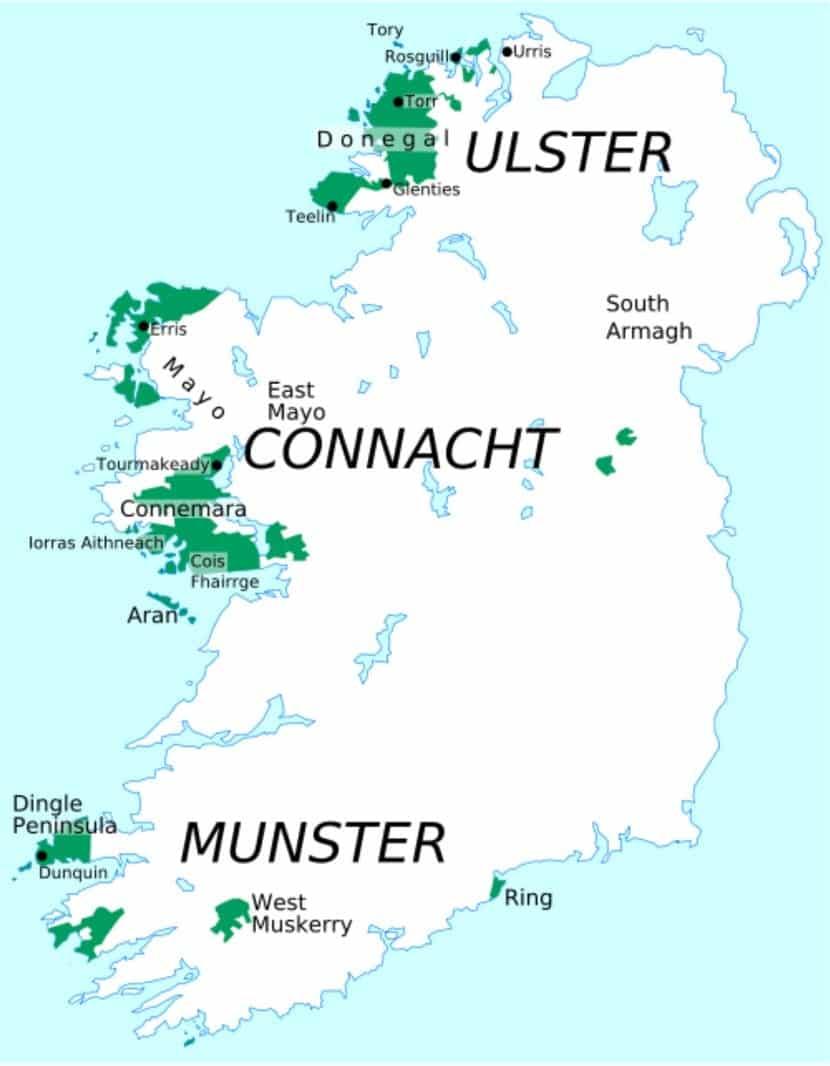 Los apellidos más típicos en Irlanda