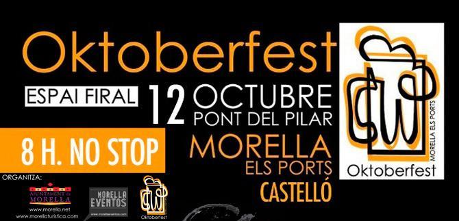 Morella vivirá el día 12 de octubre el festival Oktoberfest.