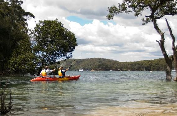 kayaks en Parque Ku-rin-gai