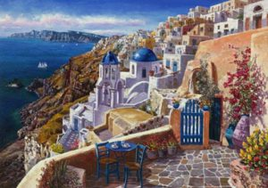 pintura de Santorini