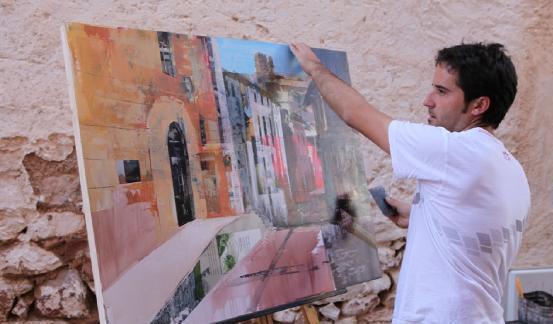 Participante en el 'Concurso Nacional de Pintura Rápida de Vilafamés'.