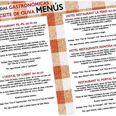 X Jornadas Gastronómicas y del Aceite de Oliva en San Mateo
