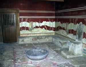 salón de trono de Knossos