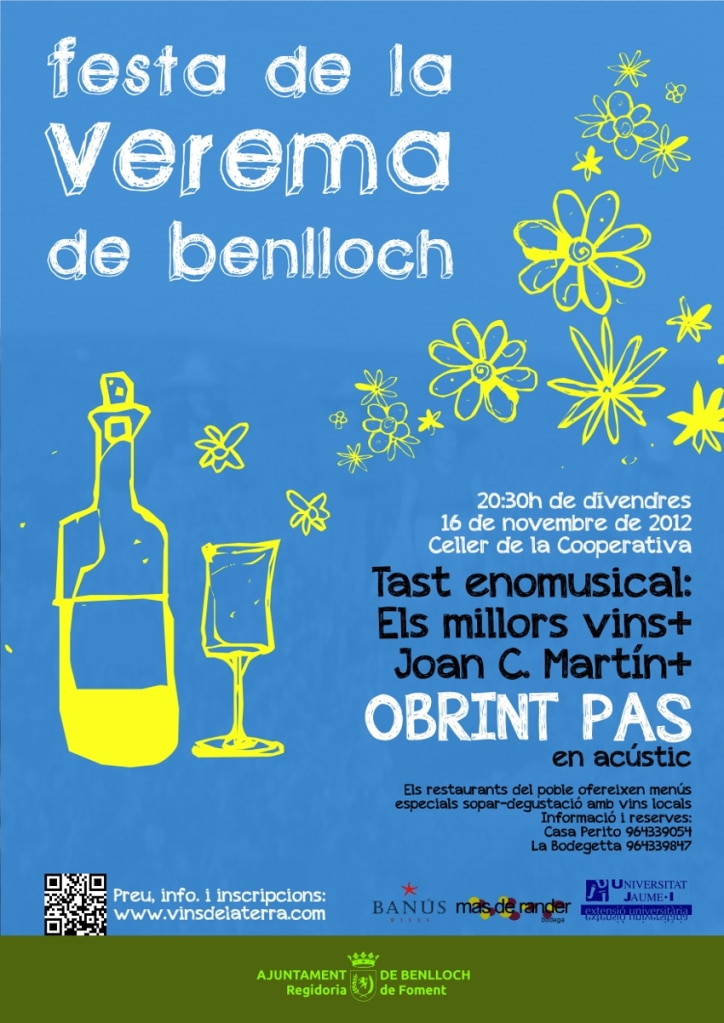 Cartel de la fiesta de la vendimia de Benlloch.
