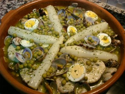 Receta para merluza en salsa verde for Lomos de merluza en salsa verde