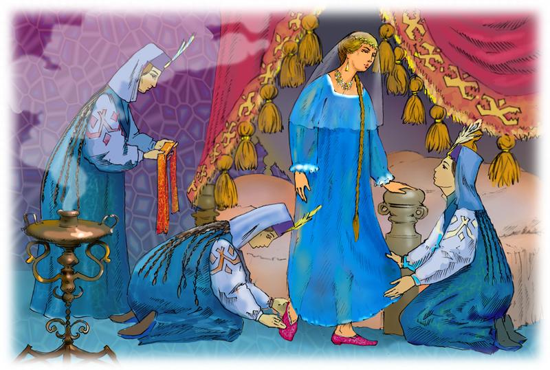 Una pintura basada en Ruslan y Ludmila