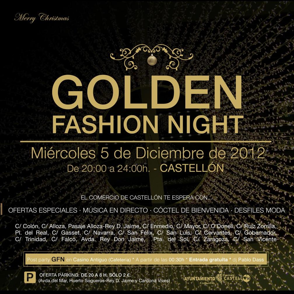Cartel de la iniciativa Golden Fashion Night.