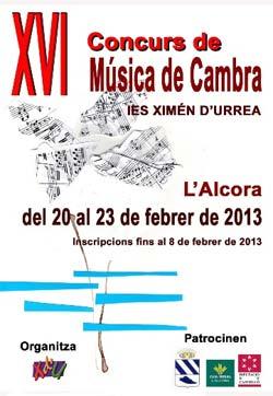 XVI Concurso de 'Música de Cambra' en Alcora.