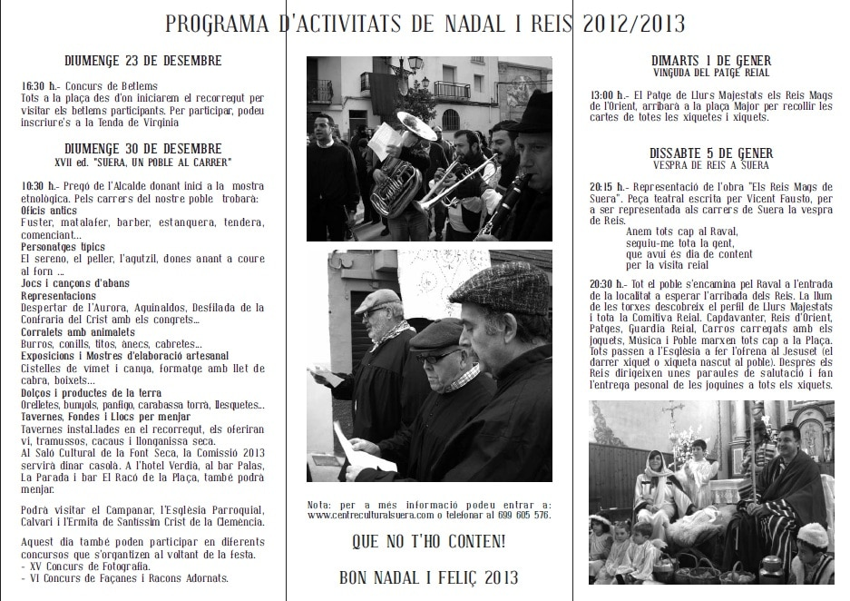 Programa de 'Suera un poble al carrer' 2012
