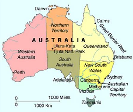 regiones de Australia