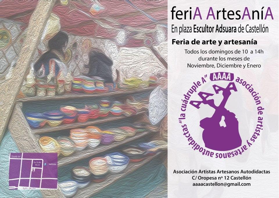 Cartel de la Feria de arte y artesanía de Castellón