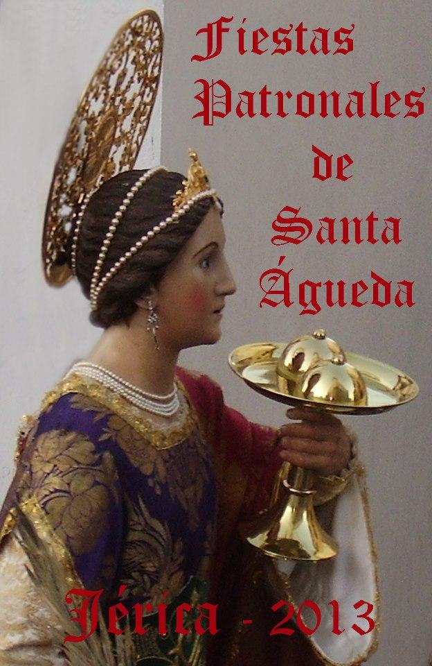 Cartel de las fiestas de Santa Águeda de Jérica 2013.