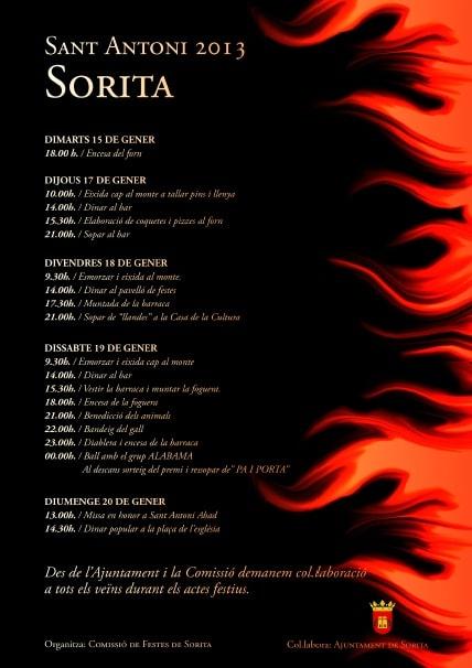 Actos en honor a San Antonio 2013 en Sorita.