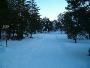 Caminos griegos nevados
