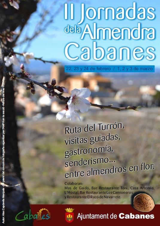 Cartel de las II Jornadas de la Almendra.