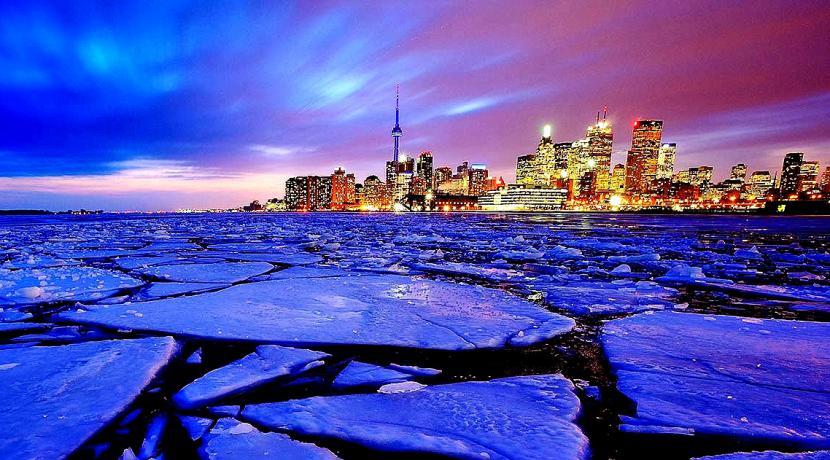 Paisaje helado en Canadá