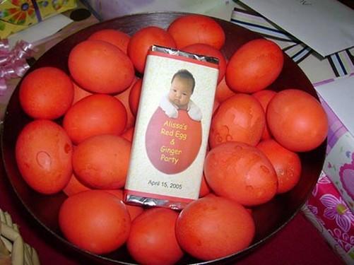 Huevos rojos chinos