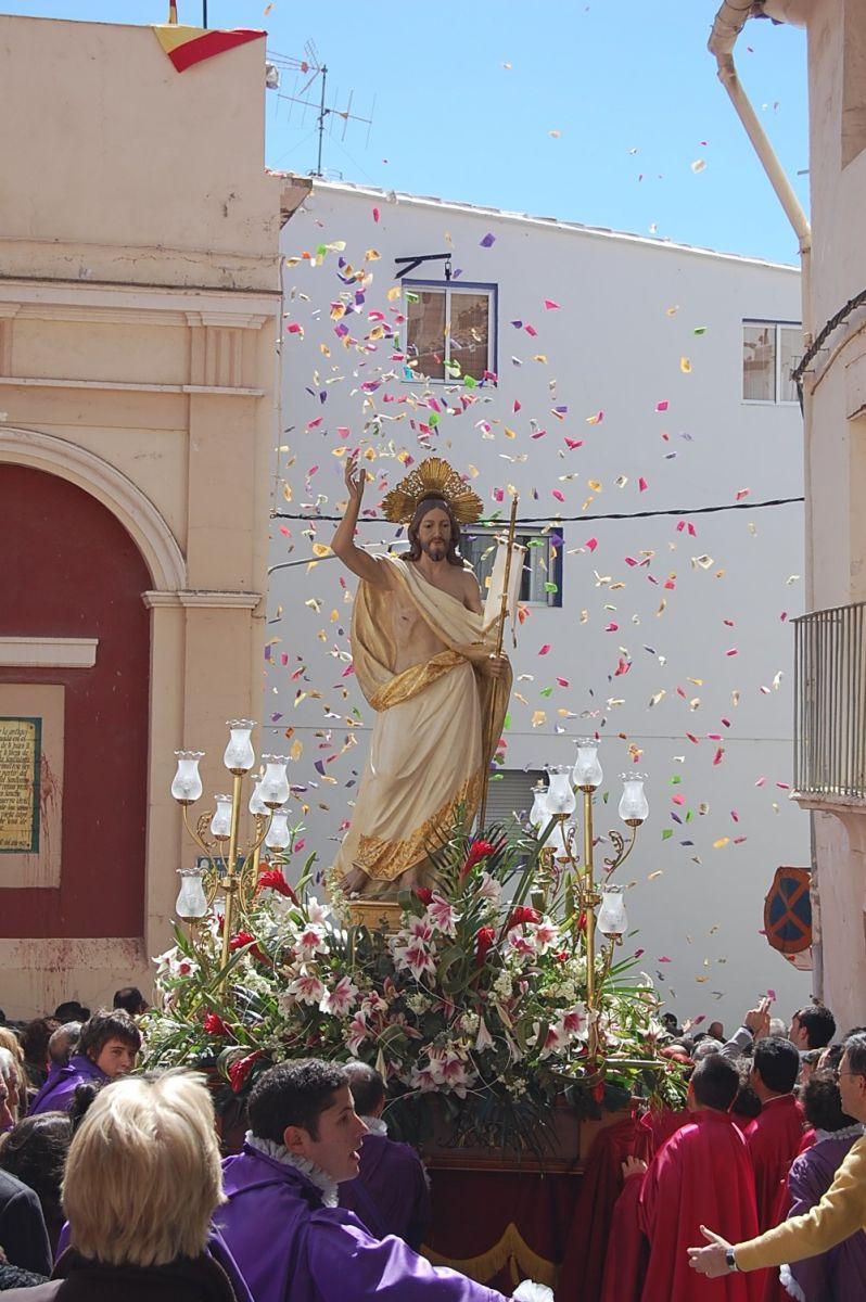 Un paso en una de las celebraciones religiosas de Segorbe.
