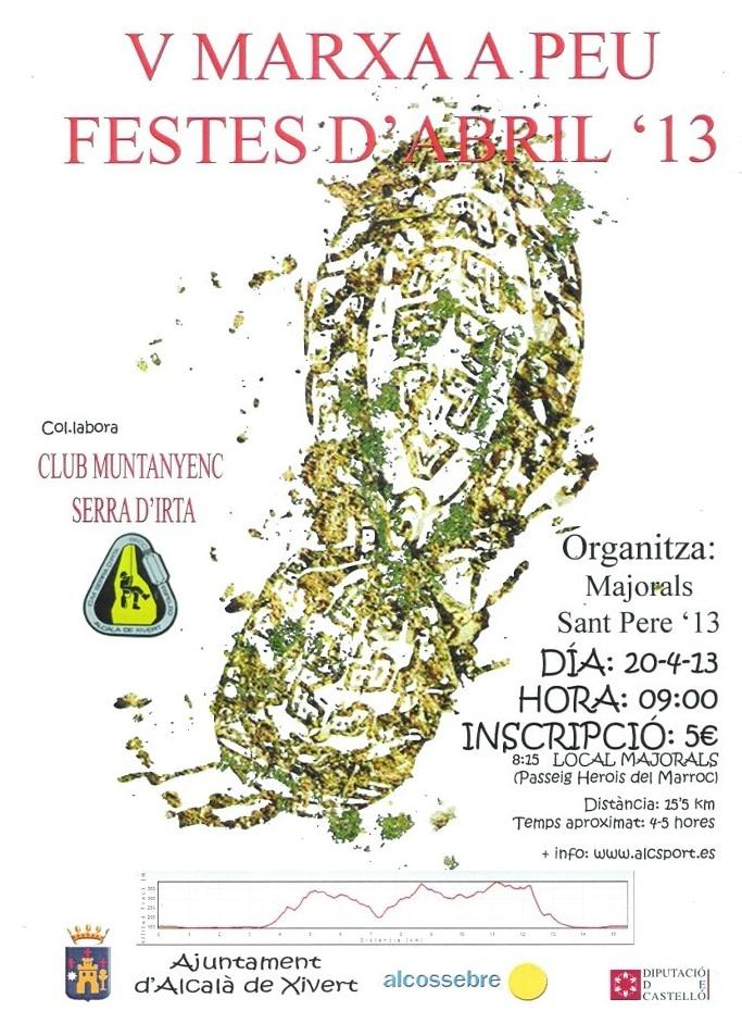Cartel del 'V Marxa a Peu' de las fiestas de abril