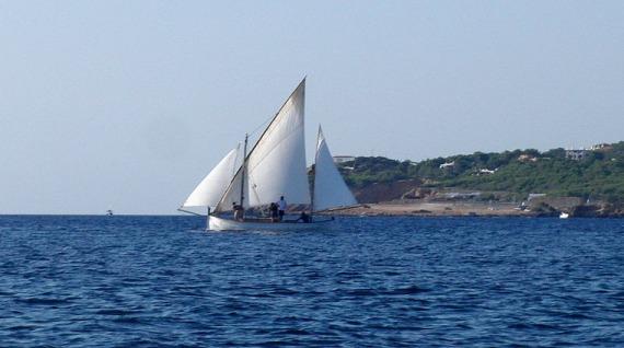Barco en Ibiza