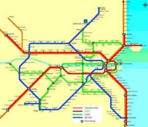 mapas transporte Dublin