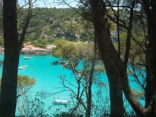 Playa en Menorca