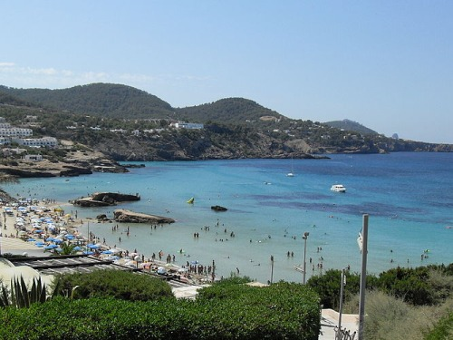 Cala Tárida en Ibiza