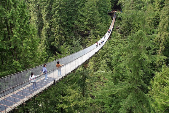 how to get from capilano bridge to grouse mountain