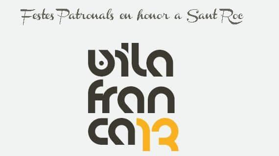 Cartel de las fiestas patronales de Vilafranca del Cid 2013.