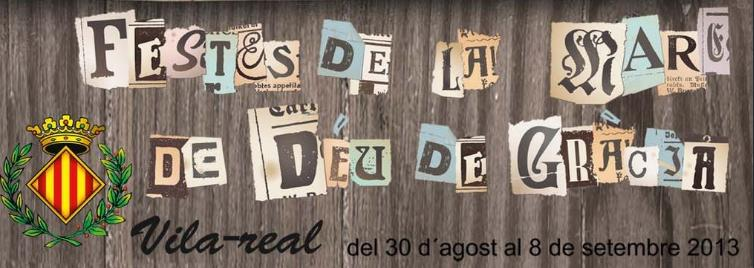 Cartell de festes de la Mare de Déu de Gràcia a Vila-Real.