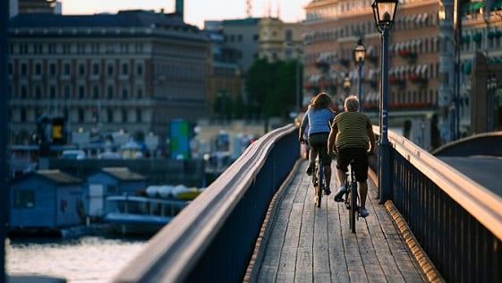 Cyklister pΠSkeppsholmsbron