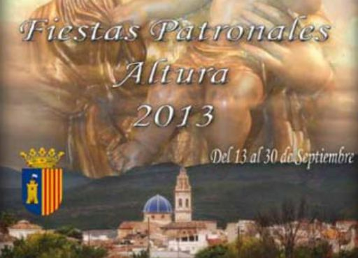 Recorte del cartel de las fiestas patronales de Altura.