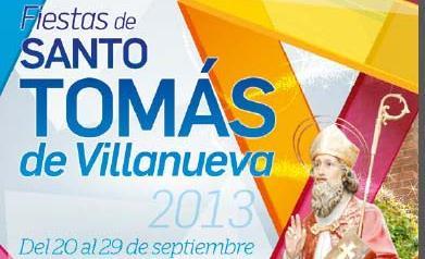 Cartel de las fiestas de Santo Tomás de Villanueva en Benicàssim.