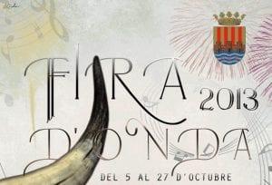 Recorte del cartel de la Fira d'Onda 2013.