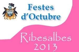 Retall del cartell de festes de Ribesalbes 2013.