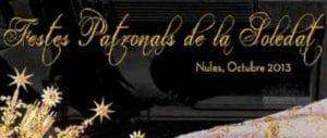 Retall del cartell de les festes patronals de la Soletat 2013 a Nules.