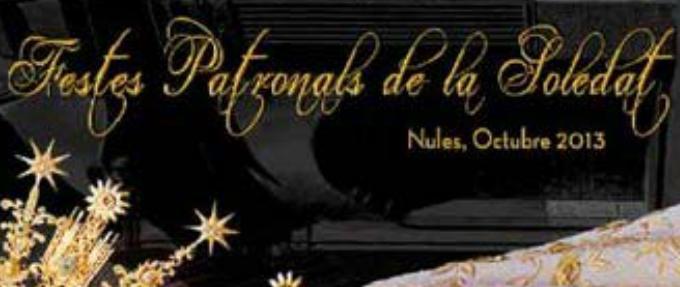 Cartell de les festes patronals de la Soletat 2013 a Nules.