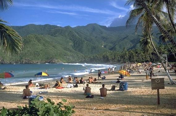 Beach Choroni in Venezuela
