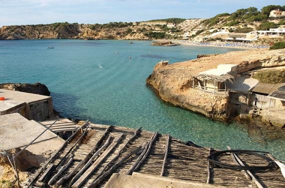 Cala Tarida en Ibiza