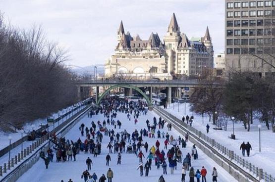 Patinaje masivo en el Canal Rideau de Ottawa