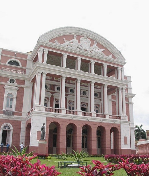 Frontis del teatro Amazonas