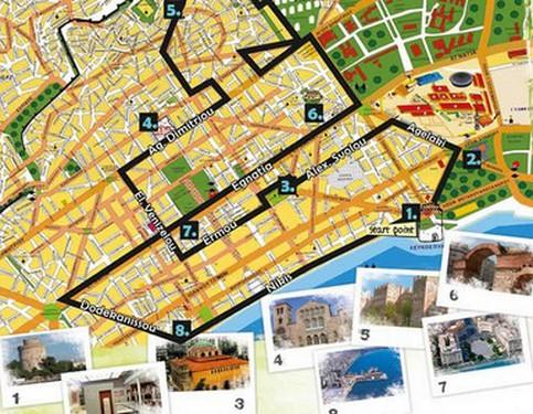 Mapa Del Autobus Turistico De Salonica