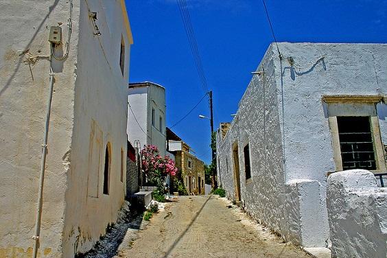 Una de las calles tradicionales de Rethymnon