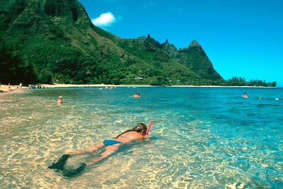 Hanalei es una de las playas más impresionantes en Hawai