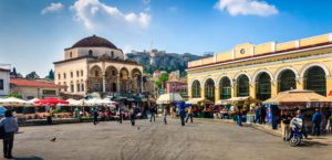Mercado Monastiraki en Atenas