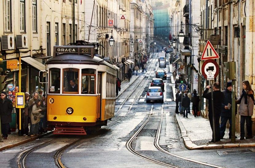 tranvía por Lisboa