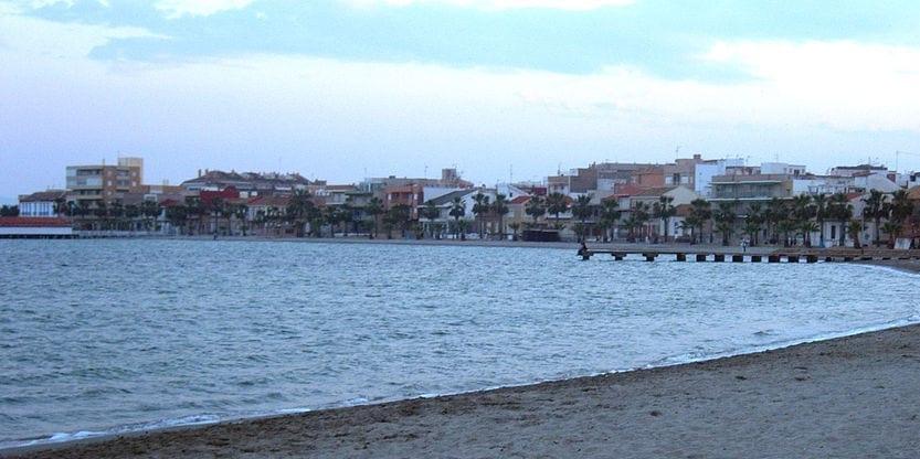 Playa en la Región de Murcia